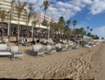 Aménagement de plage et terrasse